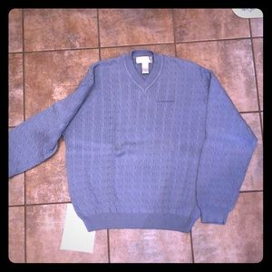 """Tehama Clint M cable curl sweater """"Gulfstream"""" jet"""